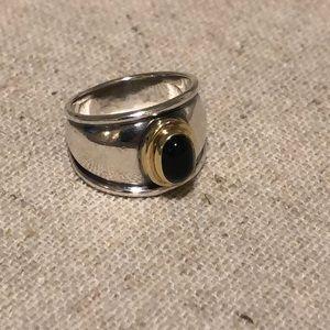 James Avery Christina Ring w/ Black Stone